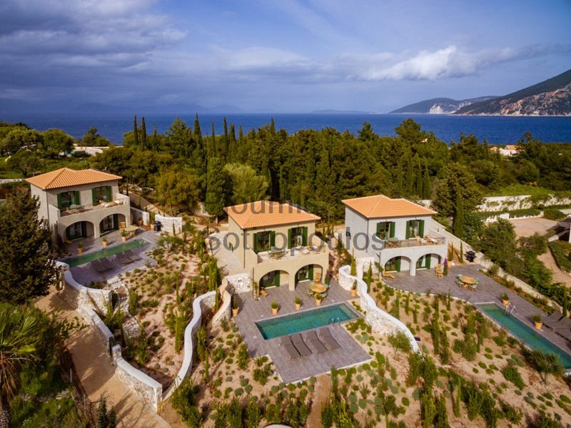 Three Villas in Fiskardo, Kefalonia